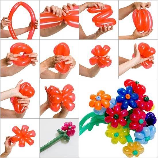 Как из шариков сделать цветок своими руками