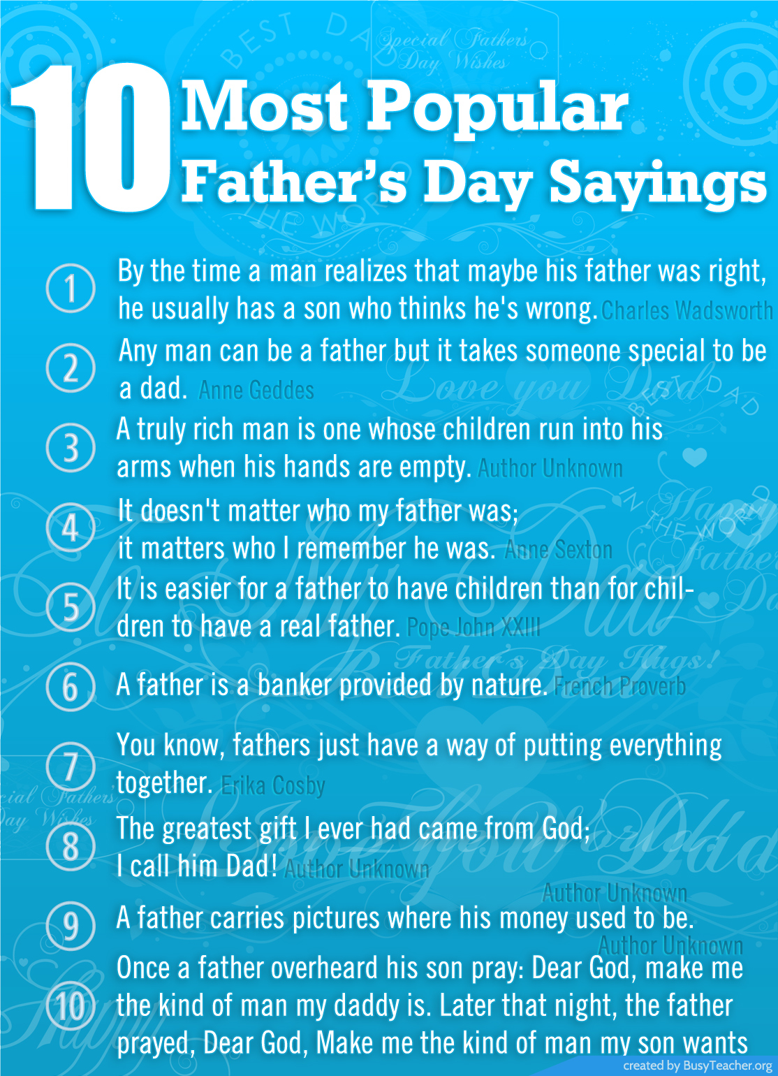 Most Famous Sayings 10 Most Popular Fathers Day Sayings Pictures Photos And Images