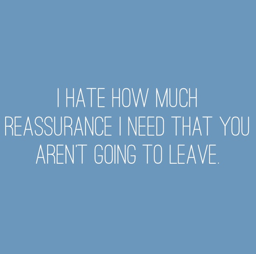 how to ask for reassurance