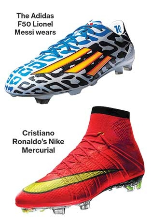 sports shoes 0db54 e1ec7 best two players shoes (Soccer greats -Messi and Ronaldo)