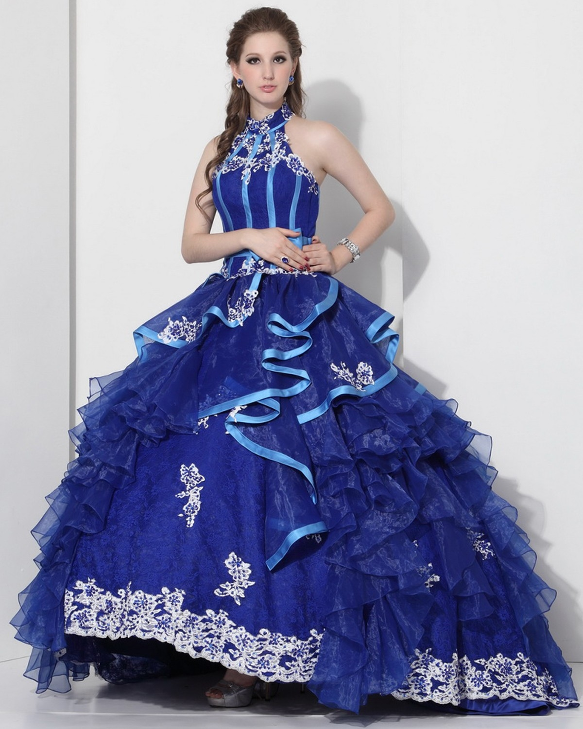 Blue quinceanera dresses tumblr blue ball gown quinceanera