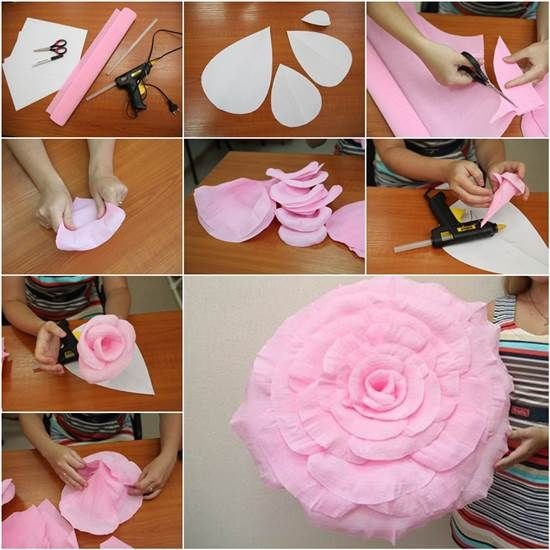 Diy Giant Crepe Paper Flower Pictures Photos And Images For