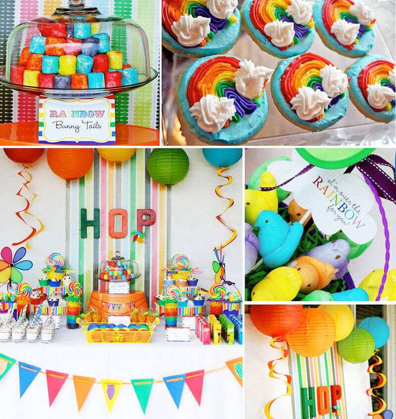 Rainbow Themed Easter Party Pictures, Photos, And Images