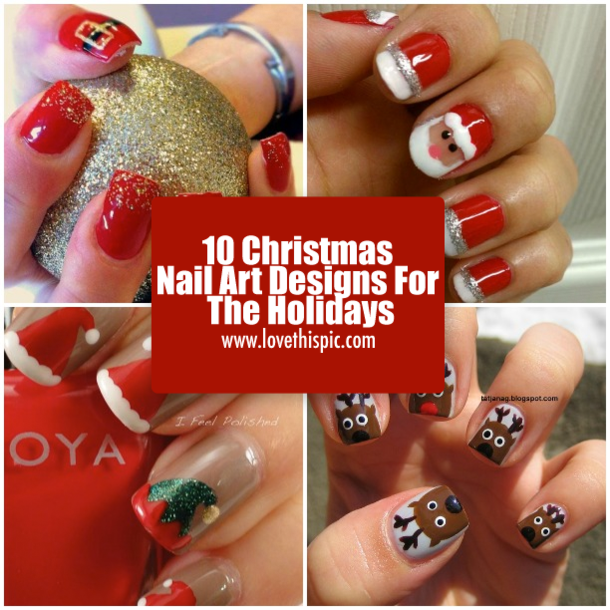 10 Christmas Nail Art Designs For The Holidays