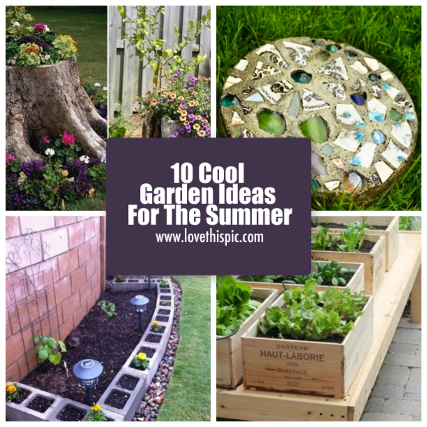 Cool Garden Ideas Best 10 Cool Garden Ideas For The Summer Decorating Design