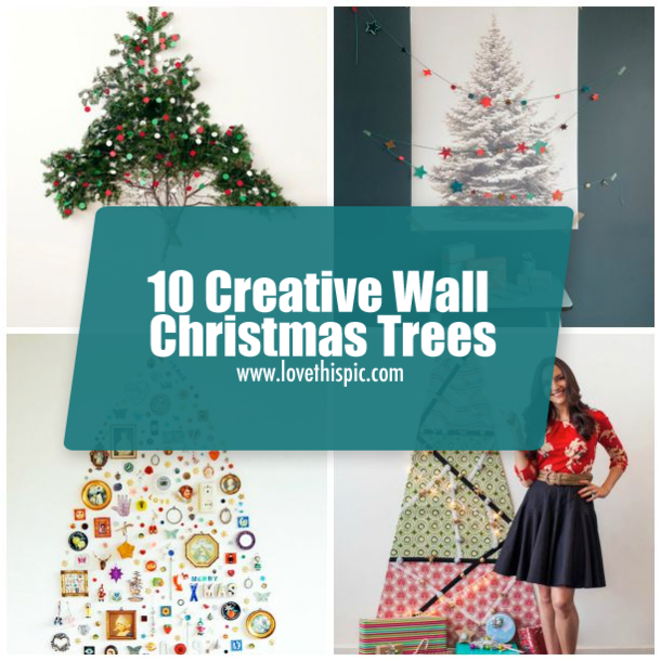 10 creative wall christmas trees - Wall Christmas Trees