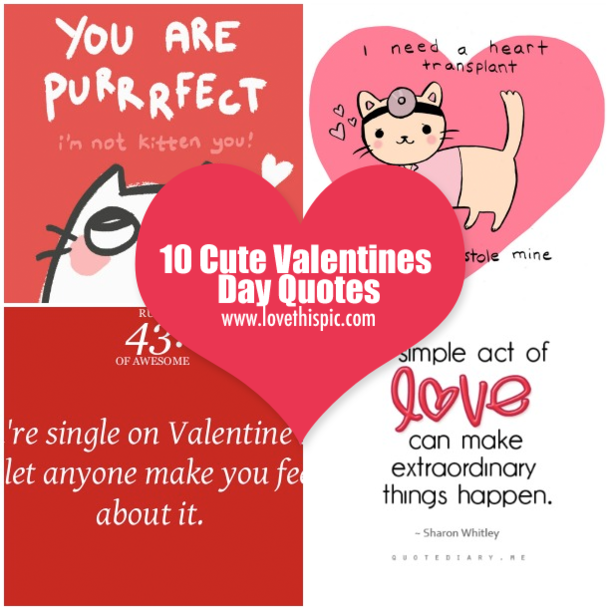 10 Cute Valentines Day Quotes ...