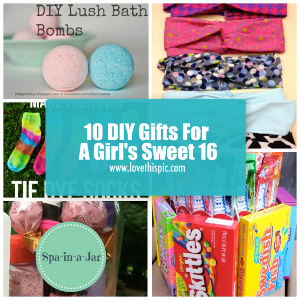 10 DIY Gifts For A Girl's Sweet 16