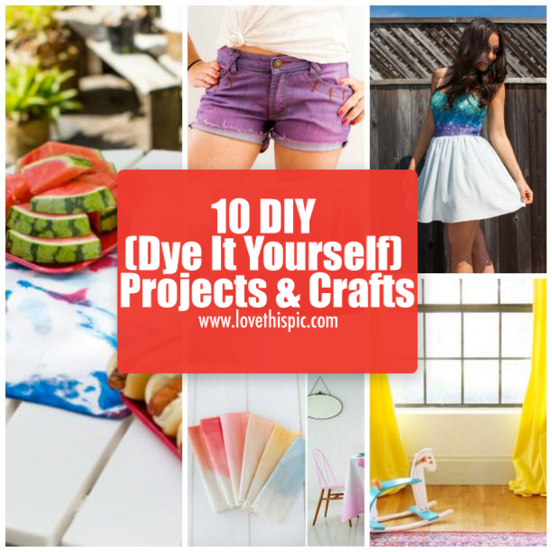 10 diy dye it yourself projects crafts solutioingenieria Gallery