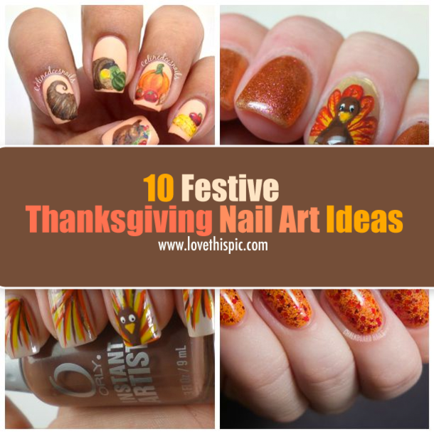 10 Festive Thanksgiving Nail Art Ideas