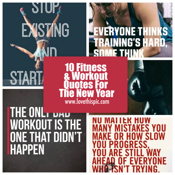 10 fitness workout quotes for the new year