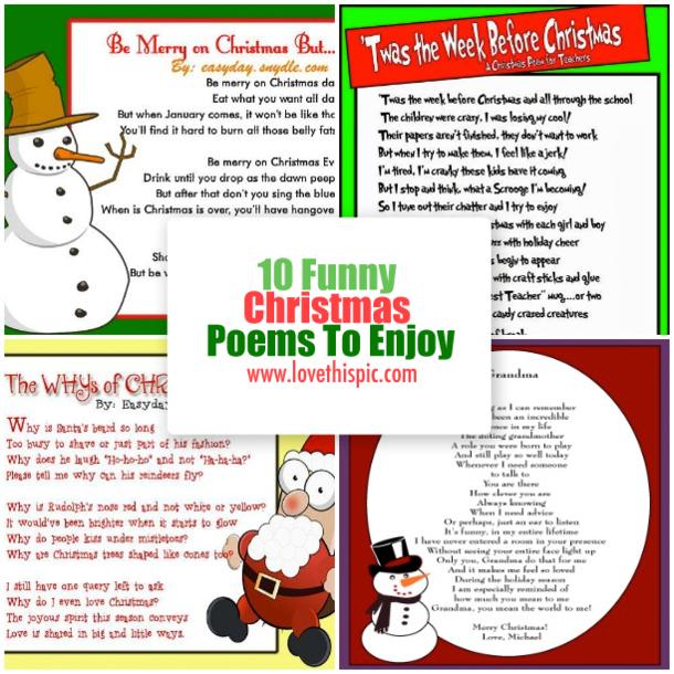 10 funny christmas poems to enjoy - Funny Christmas Poem