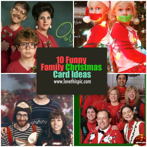 10 funny family christmas card ideas