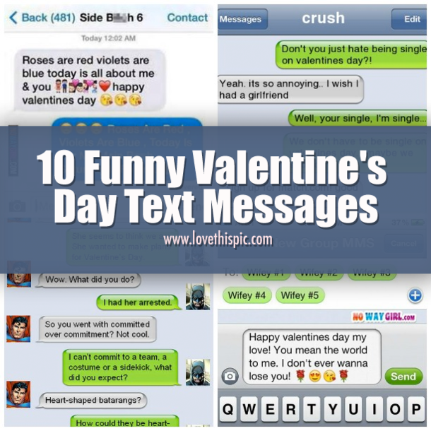 Good Morning Love Messages For Boyfriend On Valentine Day: 10 Funny Valentine's Day Text Messages