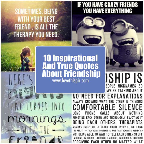 Image of: Bff Lovethispic 10 Inspirational And True Quotes About Friendship