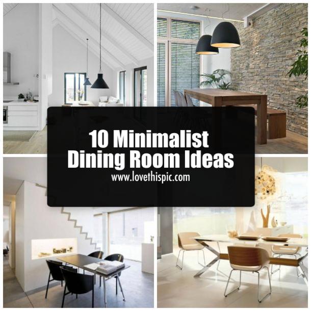 10 minimalist dining room ideas