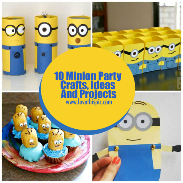 10 minion party crafts ideas and projects solutioingenieria Gallery