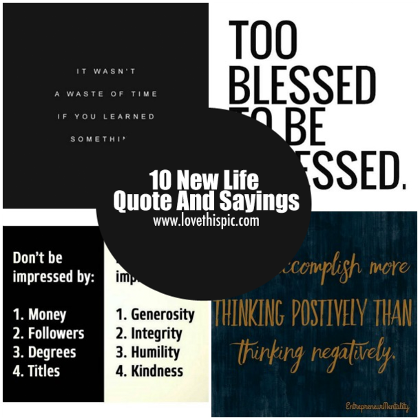 Download New Life Quotes: 10 New Life Quote And Sayings