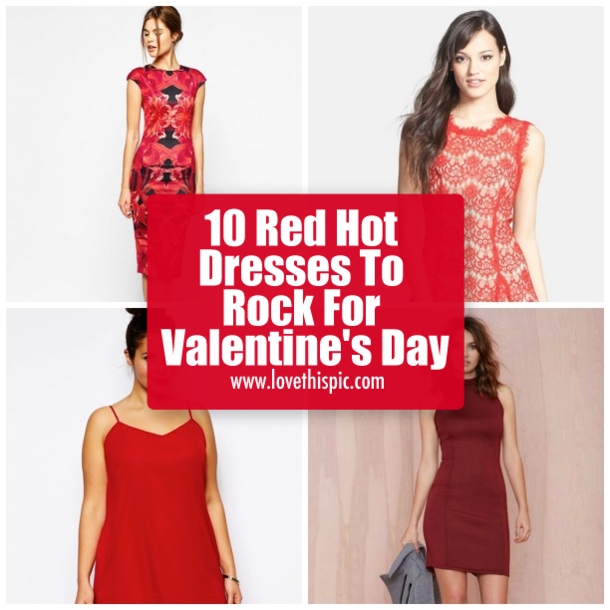 10 red hot dresses to rock for valentine's day, Ideas