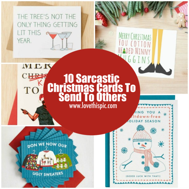 10 sarcastic christmas cards to send to others - Send Christmas Cards