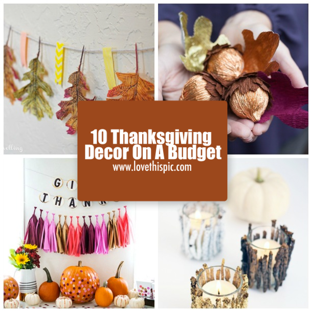 Thanksgiving decor on a budget