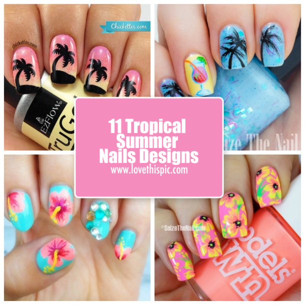 - 11 Tropical Summer Nails Designs