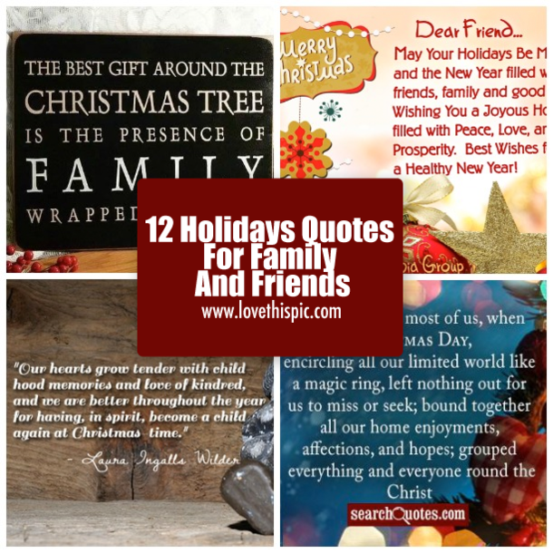 12 Holidays Quotes For Family And Friends