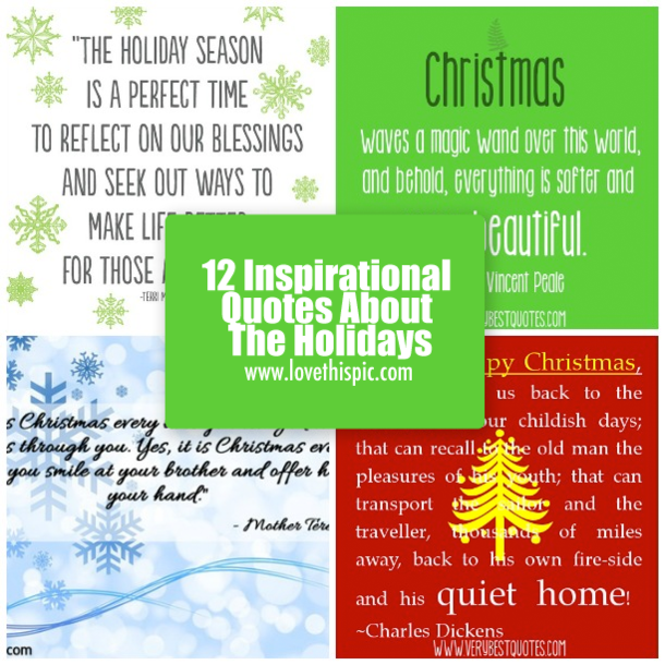 Inspirational Day Quotes: 12 Inspirational Quotes About The Holidays