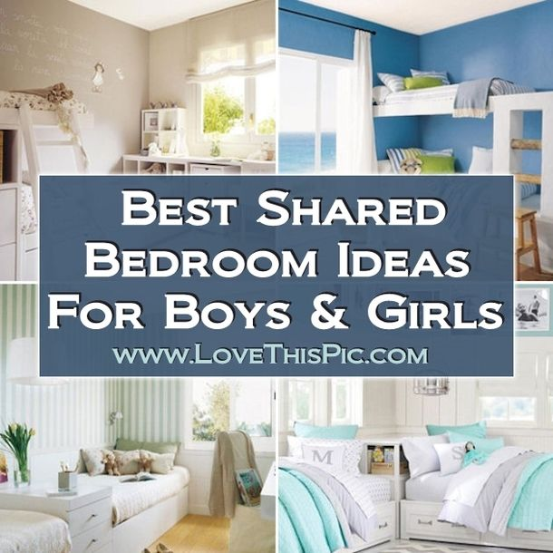 Best shared bedroom ideas for boys and girls for Boy and girl bedroom designs