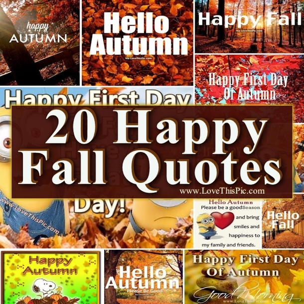 Fall Fashion Quotes: 20 Happy Fall Quotes
