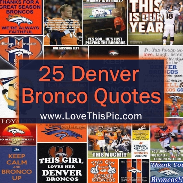 25 Denver Bronco Quotes