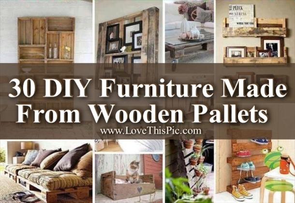 30 diy furniture ideas made from wooden pallets