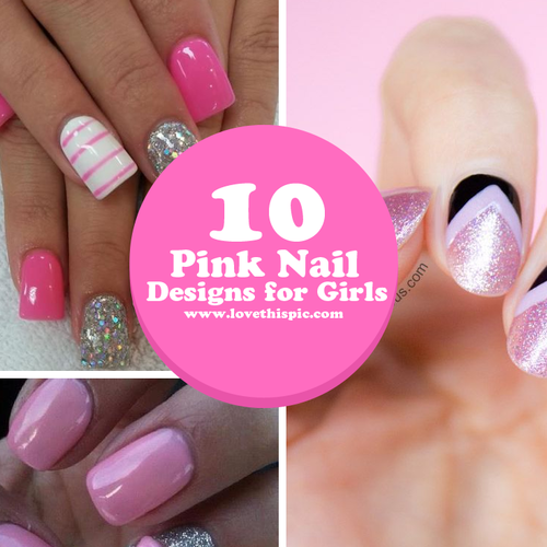 10 pink nail designs for girls prinsesfo Images