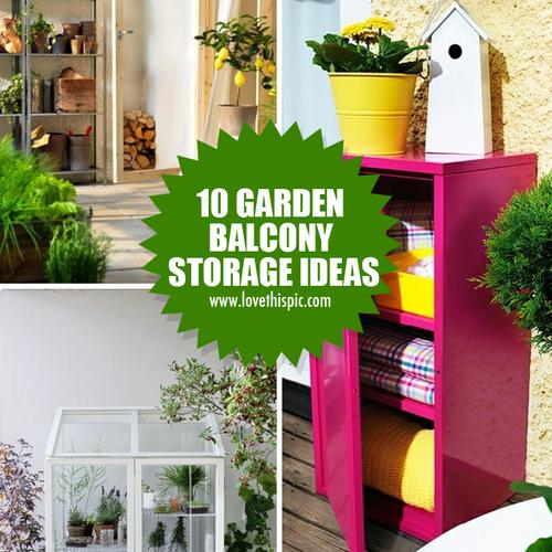 10 Garden Balcony Storage Ideas