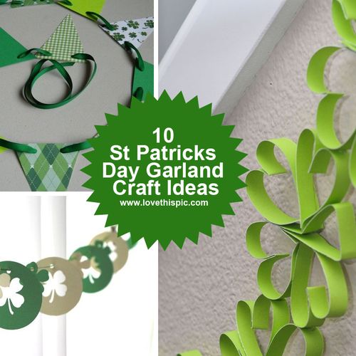 10 st patricks day garland craft ideas for St patrick day craft ideas