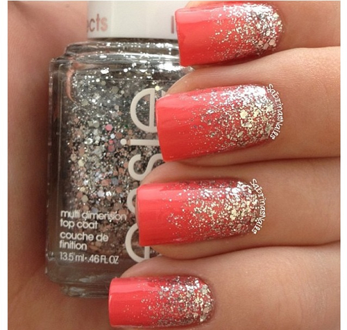 - 10 Hot Coral Nail Art Designs