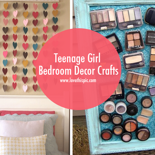 Diy Bedroom Decor Projects teenage girl bedroom decor crafts