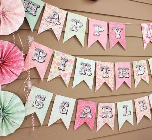 Diy summer party banners and backgrounds for Party wall letter template