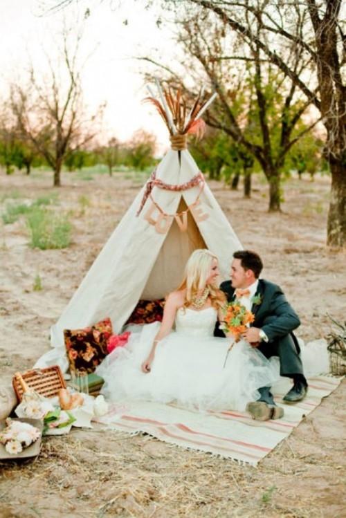 Romantic Wedding Picnic Ideas