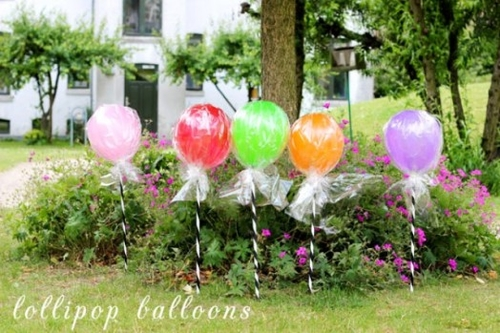 Diy lollipop balloons for a kids party