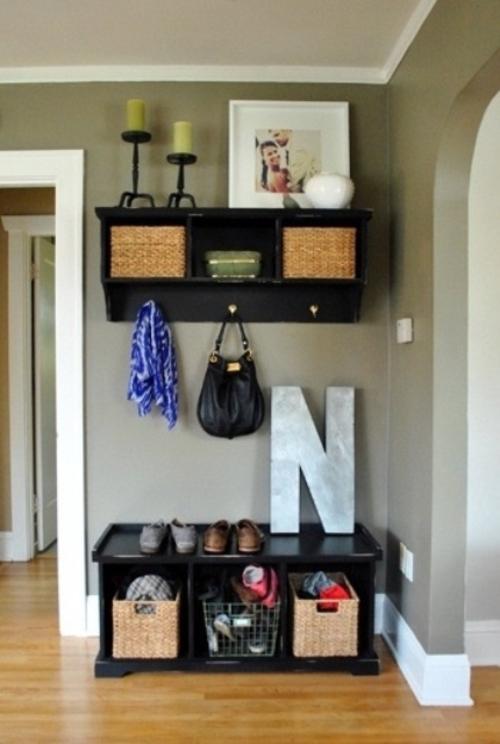 Foyer Storage Quote : Clever hallway storage ideas