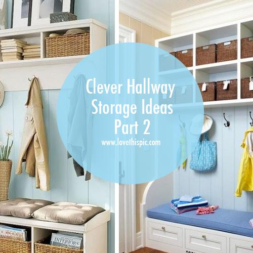 Foyer Storage Quote : Clever hallway storage ideas part