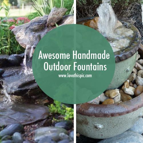 Homemade Garden Fountain Ideas Photograph Homemade Outdoor