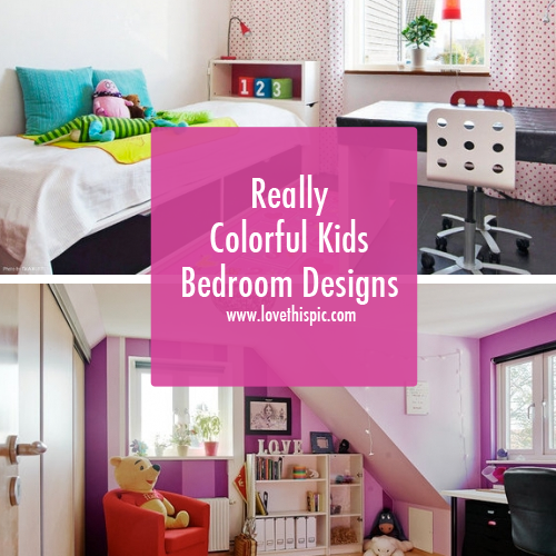 Colorful Kids Rooms: Really Colorful Kids Bedroom Designs