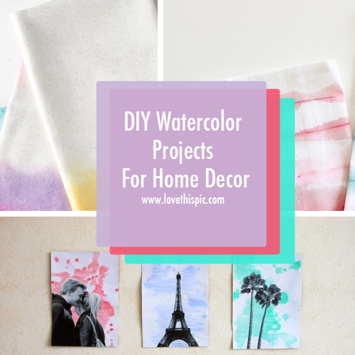 Diy watercolor projects for home decor Diy home decor crafts pinterest