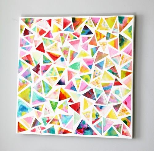 DIY Geometric Wall Art Pieces