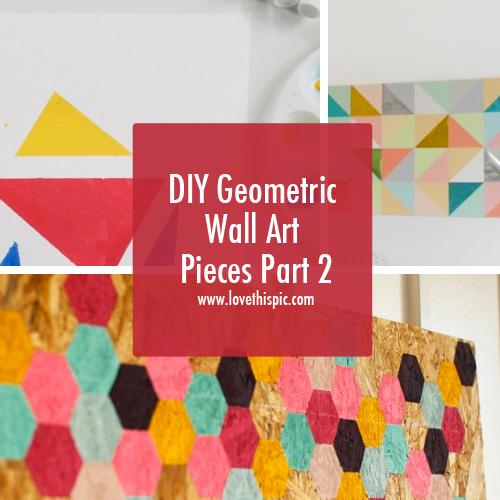 DIY Geometric Wall Art Pieces Part 2