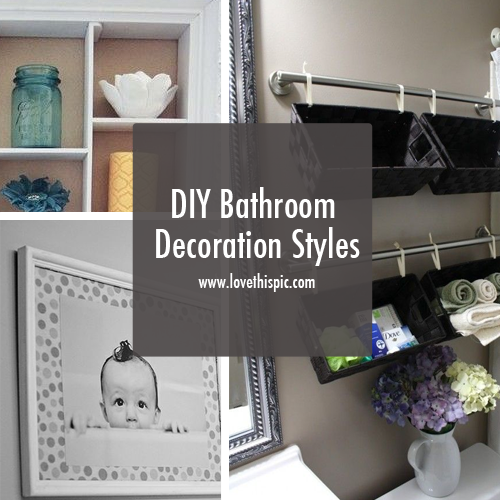 DIY Bathroom Decoration Styles