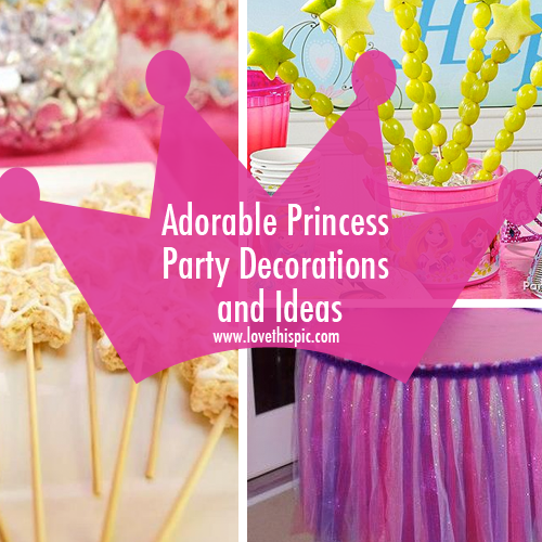 Princess Party Ideas And Themes Facebook Twitter Pinterest