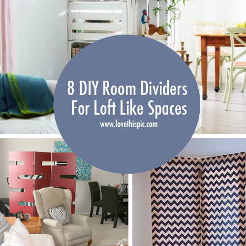 10 Creative Examples For Dividing Small Spaces: 8 DIY Room Dividers For Loft Like Spaces